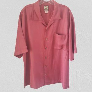 Tommy Bahama Dusty Rose Red Pink Silk Button Down